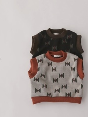 PAUL & J - BRAND - Korean Children Fashion - #Kfashion4kids - Ribbon Knit Vest