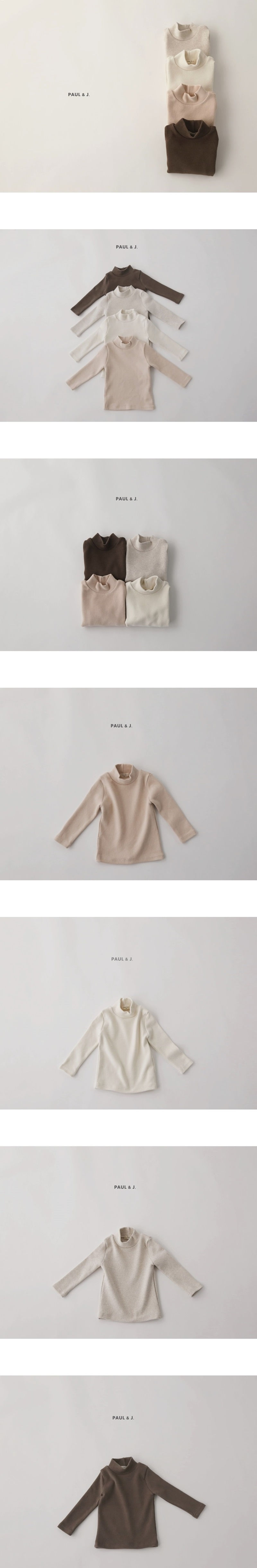 PAUL & J - Korean Children Fashion - #Kfashion4kids - Muffin Half Turtleneck Tee