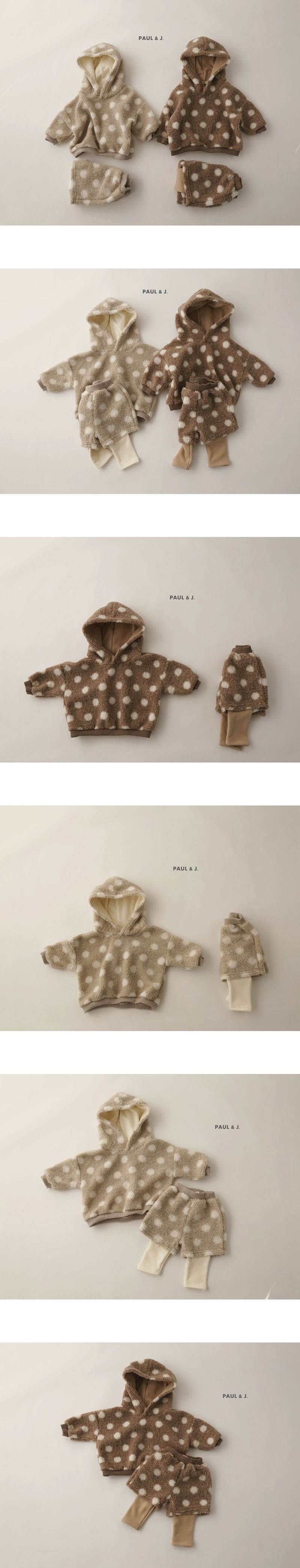 PAUL & J - Korean Children Fashion - #Kfashion4kids - Mongle Top Bottom Set