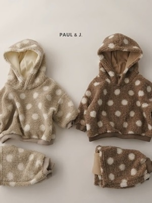PAUL & J - BRAND - Korean Children Fashion - #Kfashion4kids - Mongle Top Bottom Set