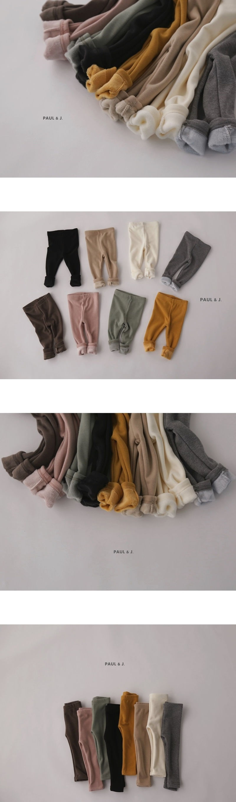 PAUL & J - Korean Children Fashion - #Kfashion4kids - Mink Leggings