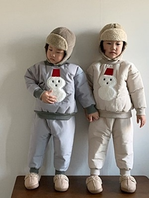 PAUL & J - BRAND - Korean Children Fashion - #Kfashion4kids - Snowman Padding Set