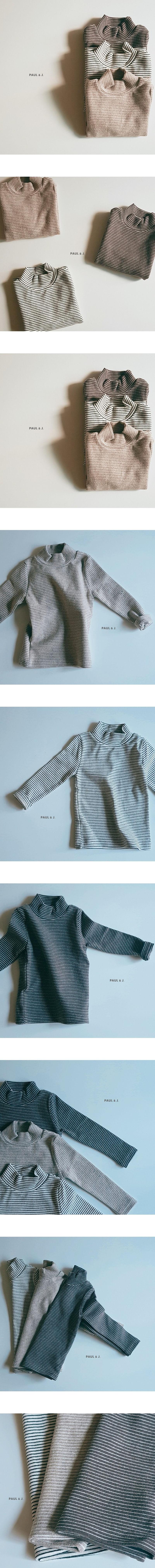 PAUL & J - Korean Children Fashion - #Kfashion4kids - Saint Half Turtleneck Tee