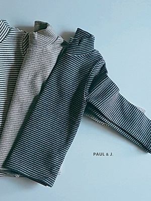 PAUL & J - BRAND - Korean Children Fashion - #Kfashion4kids - Saint Half Turtleneck Tee