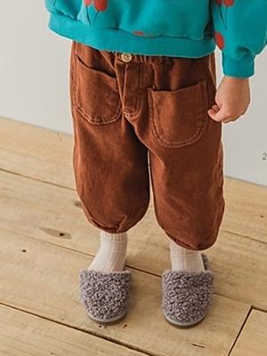 PEANUTS - BRAND - Korean Children Fashion - #Kfashion4kids - Pocket Cotton Pants
