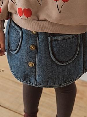 PEANUTS - BRAND - Korean Children Fashion - #Kfashion4kids - Denim Dumble Skirt