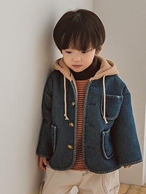 PEANUTS - BRAND - Korean Children Fashion - #Kfashion4kids - Denim Dumble Jumper