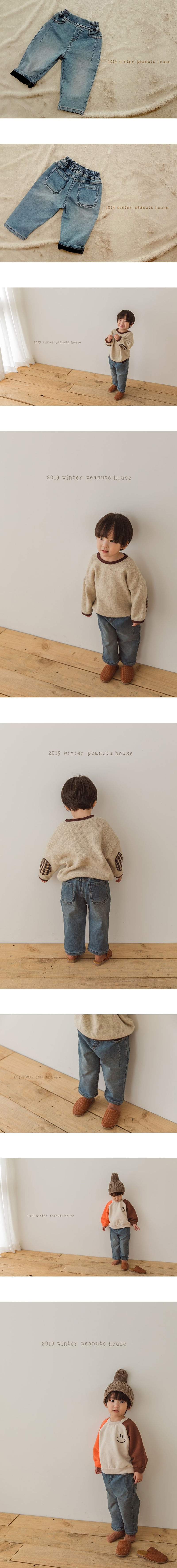 PEANUTS - Korean Children Fashion - #Kfashion4kids - Denim Bonding Pants