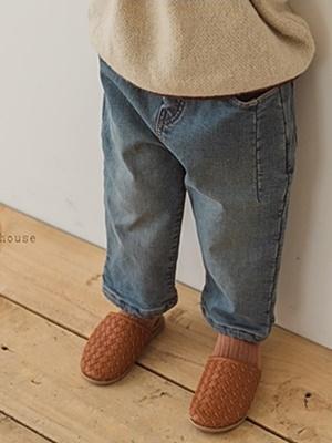 PEANUTS - BRAND - Korean Children Fashion - #Kfashion4kids - Denim Bonding Pants