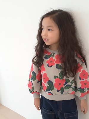 PEANUTS - BRAND - Korean Children Fashion - #Kfashion4kids - Big Flower MTM