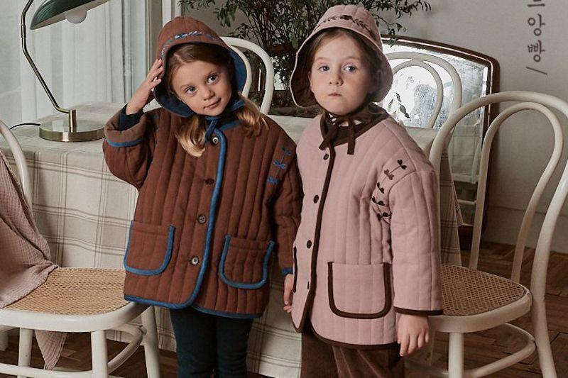 POURENFANT - BRAND - Korean Children Fashion - #Kfashion4kids - Isable Embroidery Quilting Jacket