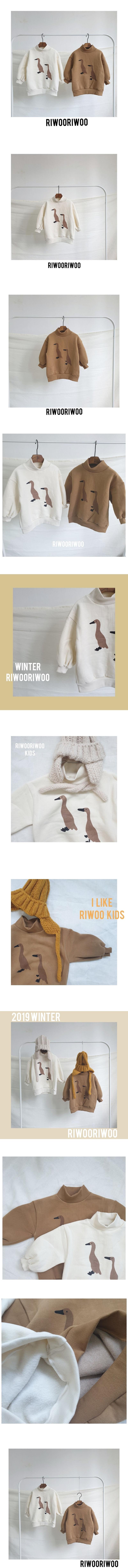 RIWOO RIWOO - Korean Children Fashion - #Kfashion4kids - Duck Half Turtleneck MTM