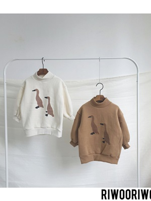 RIWOO RIWOO - BRAND - Korean Children Fashion - #Kfashion4kids - Duck Half Turtleneck MTM