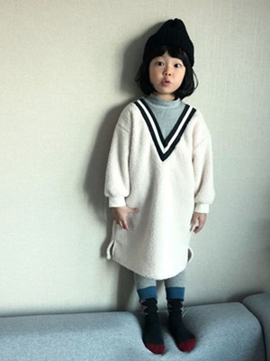 RIWOO RIWOO - BRAND - Korean Children Fashion - #Kfashion4kids - Yoko Boa Turtleneck One-piece