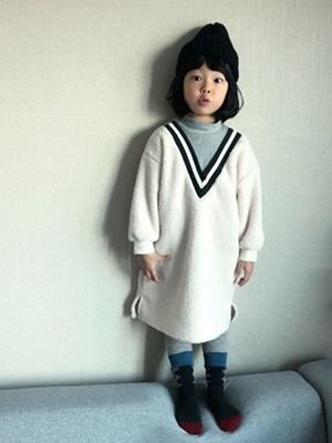 RIWOO RIWOO - BRAND - Korean Children Fashion - #Kfashion4kids - Yoko Boa Turtleneck One-piece