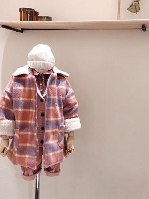 STUDIO M - BRAND - Korean Children Fashion - #Kfashion4kids - Half Check Coat
