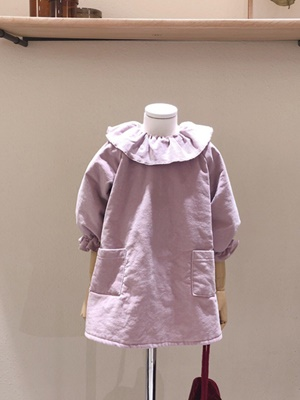 STUDIO M - BRAND - Korean Children Fashion - #Kfashion4kids - Velvet Ribbon One-piece