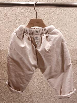 STUDIO M - BRAND - Korean Children Fashion - #Kfashion4kids - Button Velvet Pants