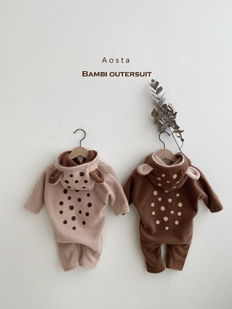 AOSTA - Korean Children Fashion - #Kfashion4kids - Bambi Outer Bodysuit - 2