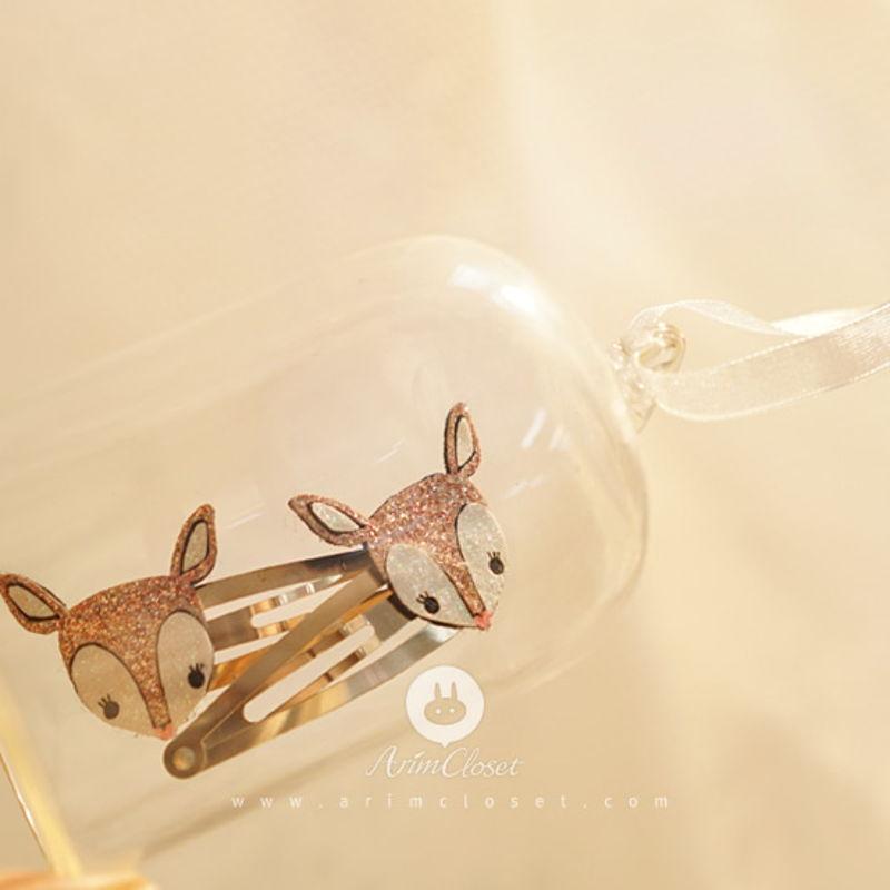 ARIM CLOSET - BRAND - Korean Children Fashion - #Kfashion4kids - Bling Bambi Hairpin [set of 2]