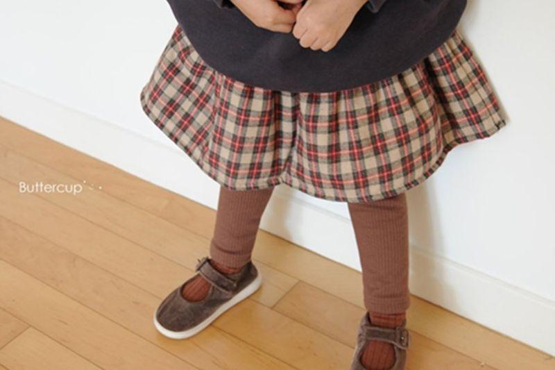 BUTTERCUP - BRAND - Korean Children Fashion - #Kfashion4kids - Check Skirt Leggings