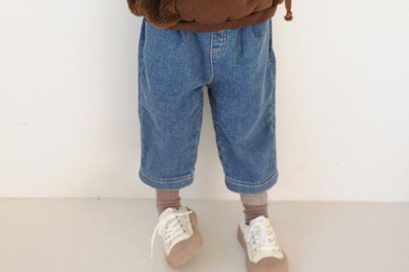 BUTTERCUP - BRAND - Korean Children Fashion - #Kfashion4kids - Denim Banding Pants