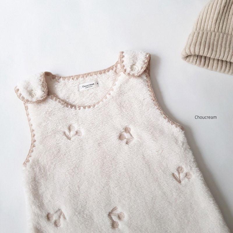CHOUCREAM - Korean Children Fashion - #Kfashion4kids - Cherry Sleeping Vest - 5
