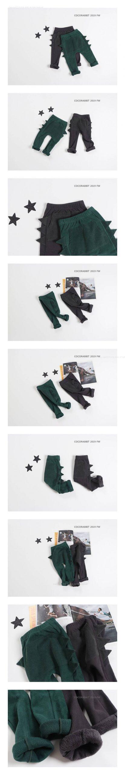COCO RABBIT - Korean Children Fashion - #Kfashion4kids - Dino Pants