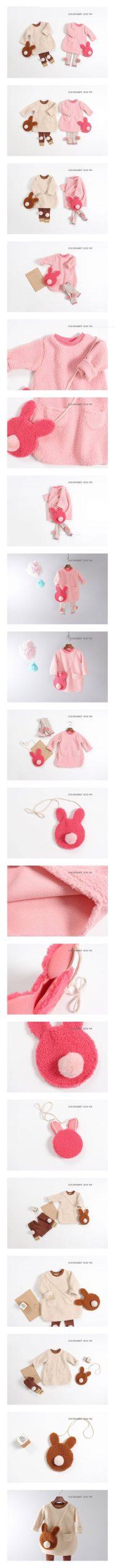 COCO RABBIT - Korean Children Fashion - #Kfashion4kids - Dumble Rabbit Bag One-piece