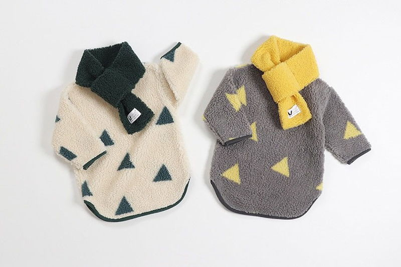 COCO RABBIT - BRAND - Korean Children Fashion - #Kfashion4kids - Triangle One-piece with Muffler