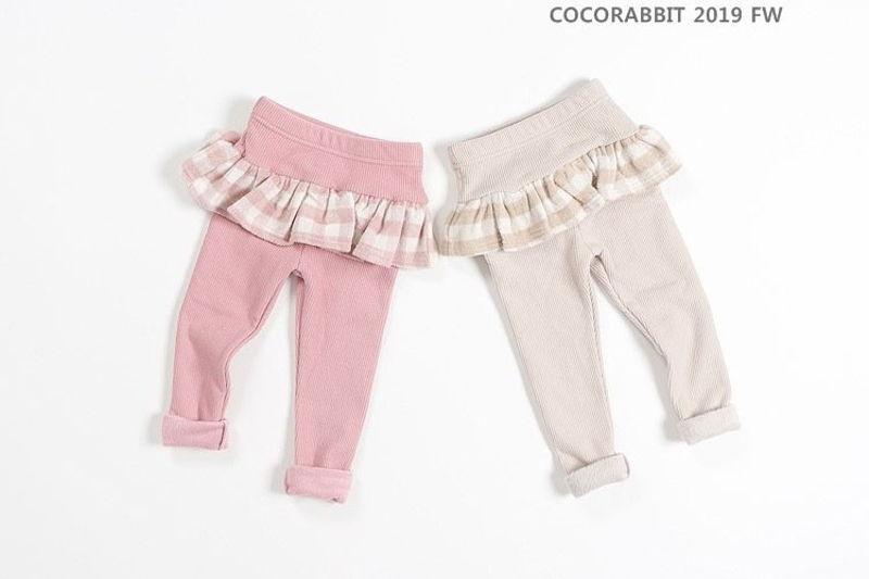 COCO RABBIT - BRAND - Korean Children Fashion - #Kfashion4kids - Check Frill Leggings