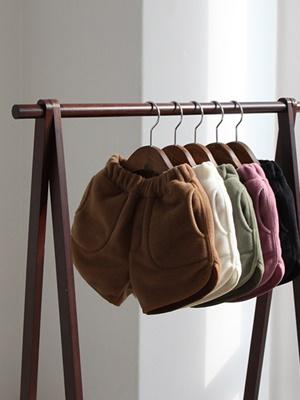 CREAMCOK - BRAND - Korean Children Fashion - #Kfashion4kids - Fleece Half Pants