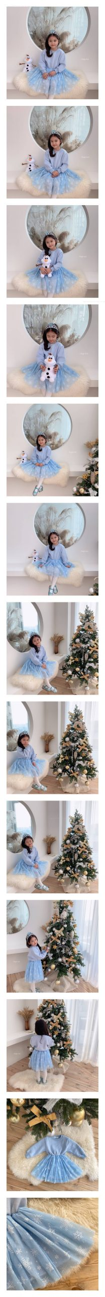 DAILY BEBE - Korean Children Fashion - #Kfashion4kids - Winter Princess One-piece