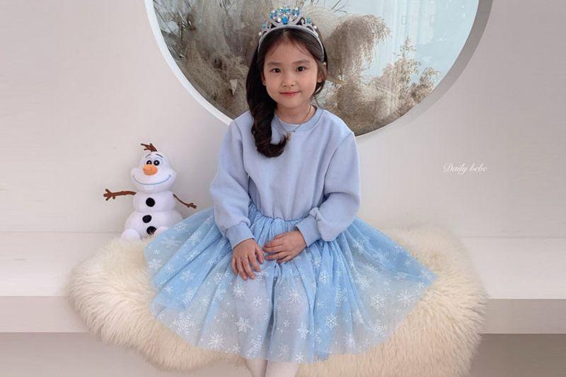 DAILY BEBE - BRAND - Korean Children Fashion - #Kfashion4kids - Winter Princess One-piece