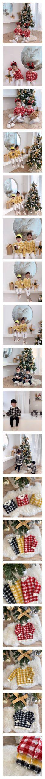 DAILY BEBE - Korean Children Fashion - #Kfashion4kids - Check Cardigan