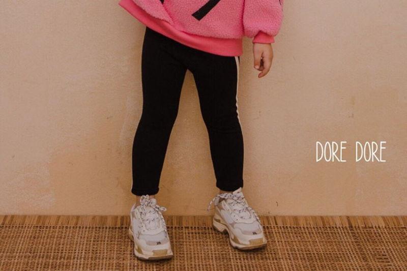 DORE DORE - BRAND - Korean Children Fashion - #Kfashion4kids - One Line Mink Leggings