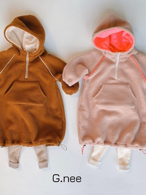 G.NEE - BRAND - Korean Children Fashion - #Kfashion4kids - Overfit Dumble Hood Long Tee