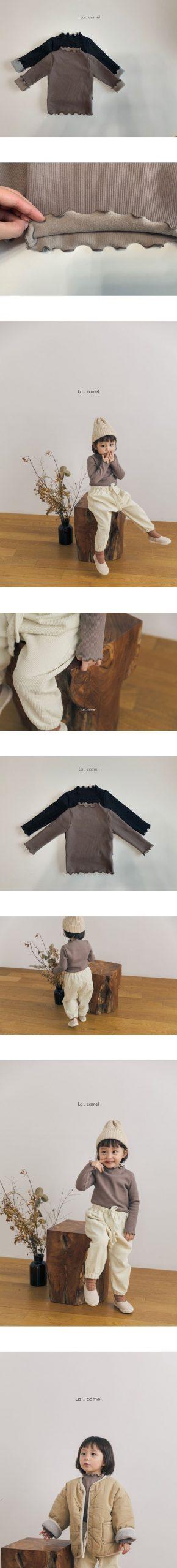 LA CAMEL - Korean Children Fashion - #Kfashion4kids - Julie Turtleneck Tee