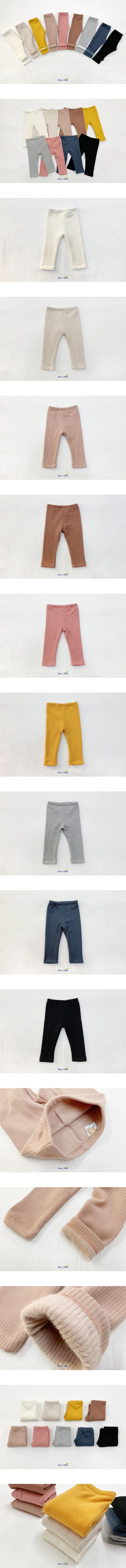 LIME & BLUE - Korean Children Fashion - #Kfashion4kids - Winter Pink Leggings