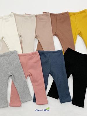 LIME & BLUE - BRAND - Korean Children Fashion - #Kfashion4kids - Winter Pink Leggings