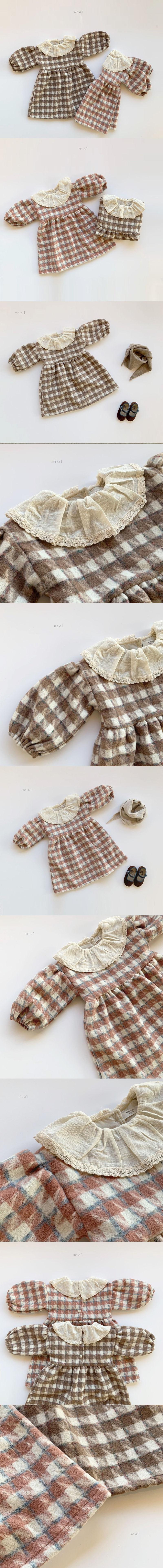 MIEL KIDS - Korean Children Fashion - #Kfashion4kids - Wool Check One-piece