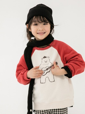 NAVI - BRAND - Korean Children Fashion - #Kfashion4kids - Bear Raglan MTM