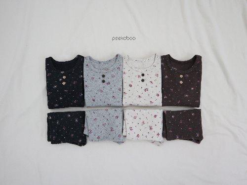PEEKABOO - BRAND - Korean Children Fashion - #Kfashion4kids - Pink Floral Easywear