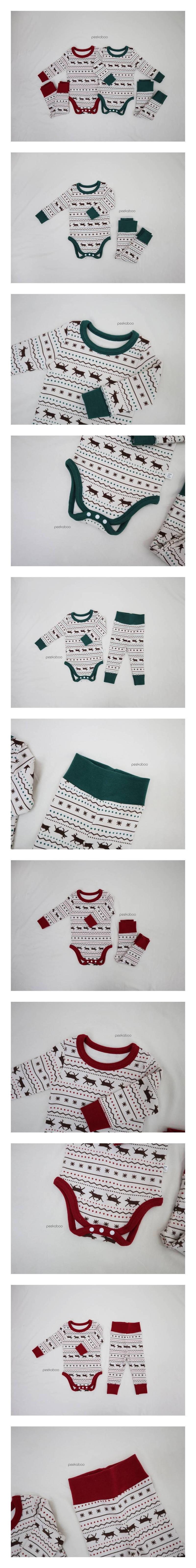 PEEKABOO - Korean Children Fashion - #Kfashion4kids - Nordic Baby Bodysuit with Pants