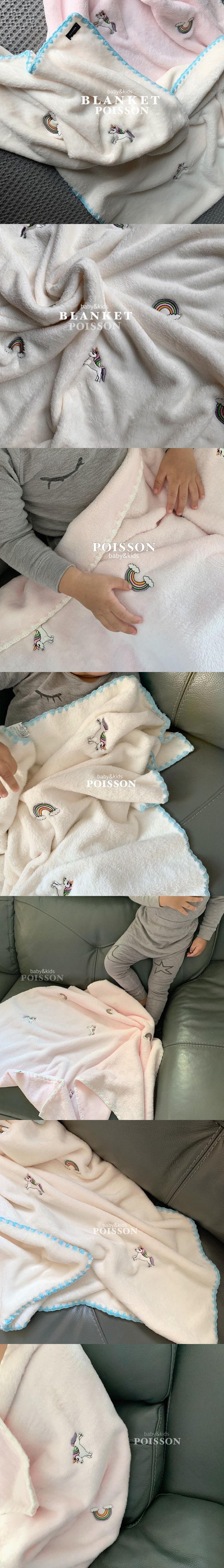 POISSON - Korean Children Fashion - #Kfashion4kids - Unicorn Blanket