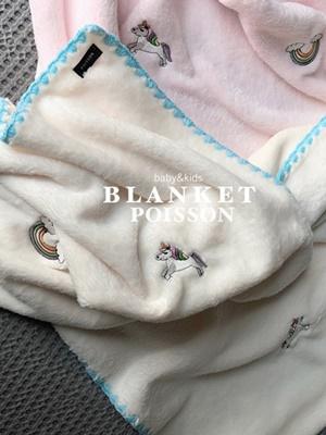 POISSON - BRAND - Korean Children Fashion - #Kfashion4kids - Unicorn Blanket