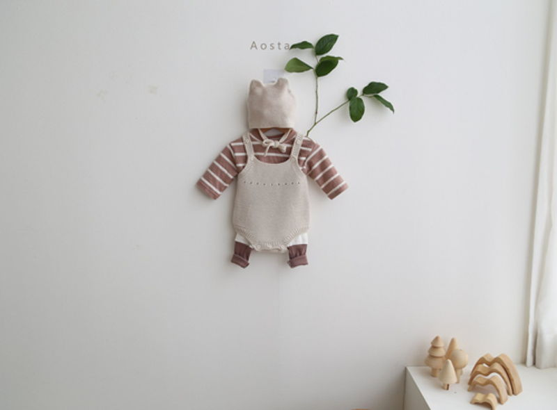 AOSTA - Korean Children Fashion - #Kfashion4kids - Bear Knit Hat - 10