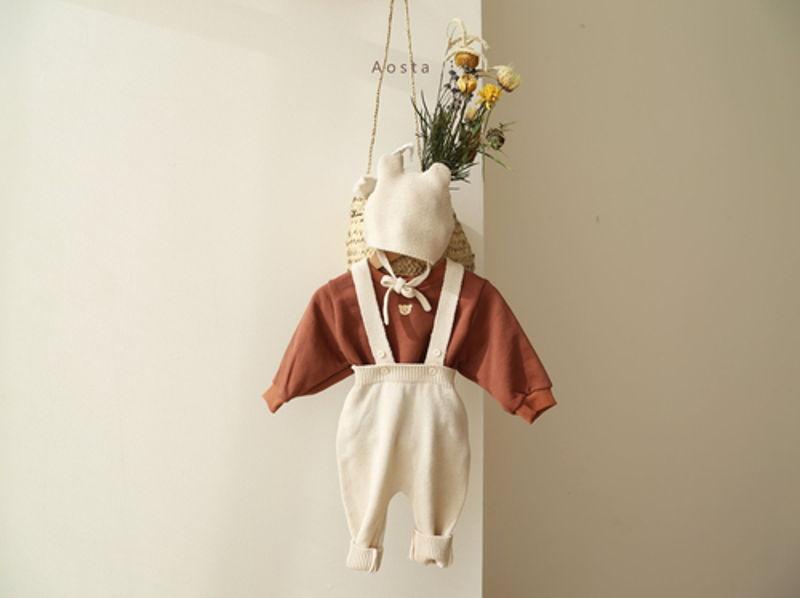 AOSTA - Korean Children Fashion - #Kfashion4kids - Bear Knit Hat - 11