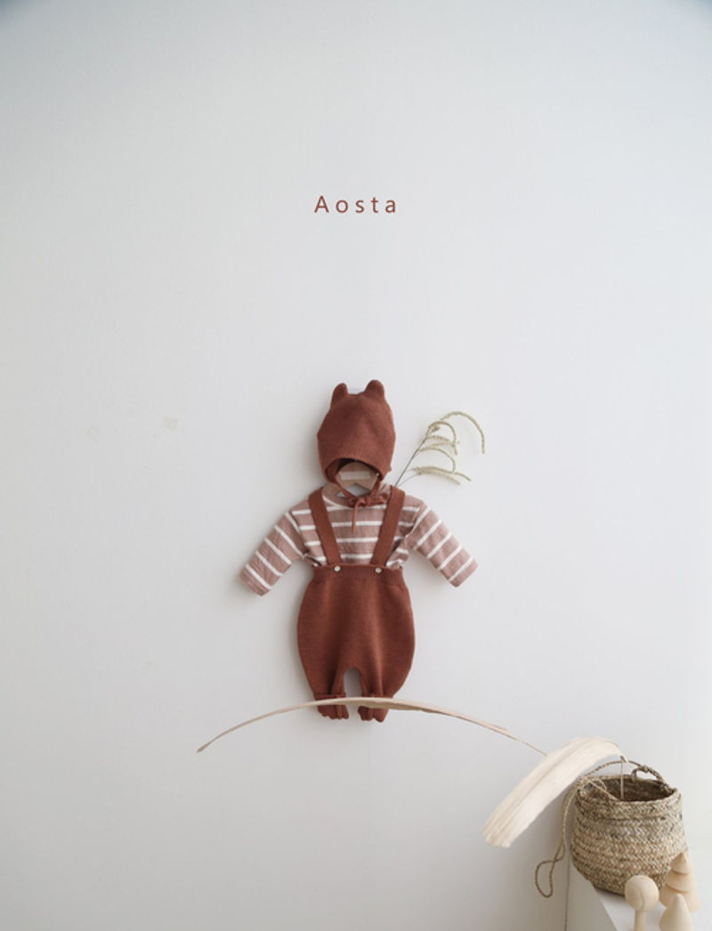 AOSTA - Korean Children Fashion - #Kfashion4kids - Bear Knit Hat - 12