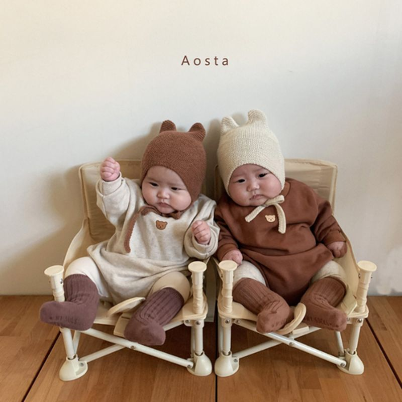 AOSTA - Korean Children Fashion - #Kfashion4kids - Bear Knit Hat - 2
